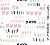 abstract seamless pattern with...   Shutterstock .eps vector #738736258