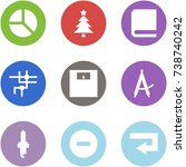 origami corner style icon set   ... | Shutterstock .eps vector #738740242