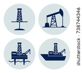 set of signs for oil and gas... | Shutterstock .eps vector #738744346
