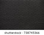 black grid of audio amplifier...   Shutterstock . vector #738745366