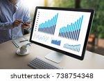 statistics analysis business... | Shutterstock . vector #738754348