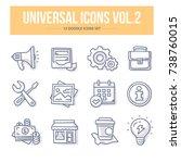 doodle vector universal generic ... | Shutterstock .eps vector #738760015