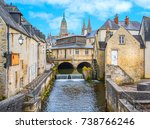 scenic view in bayeux  normandy ...   Shutterstock . vector #738766246