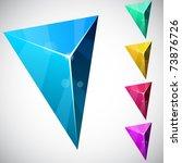 color variation of triangular...   Shutterstock .eps vector #73876726