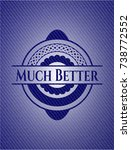 much better badge with jean... | Shutterstock .eps vector #738772552