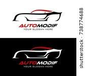 auto car wash detailing logo | Shutterstock .eps vector #738774688