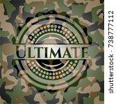 ultimate on camo pattern | Shutterstock .eps vector #738777112