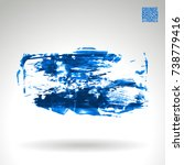 blue brush stroke and texture.... | Shutterstock .eps vector #738779416