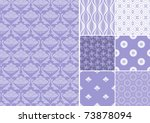 collection of seamless patterns ... | Shutterstock .eps vector #73878094