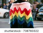 milan   september 21  woman...   Shutterstock . vector #738783322