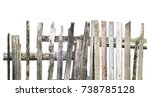 Panorama Of Old Wooden Fence Of ...