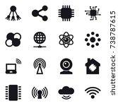 16 vector icon set   share ... | Shutterstock .eps vector #738787615