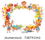 playground. children paint... | Shutterstock .eps vector #738791542