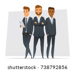 multicultural business team.... | Shutterstock .eps vector #738792856