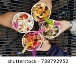 frozen yogurt    Shutterstock . vector #738792952