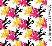 exotic seamless pattern with...   Shutterstock .eps vector #738794302