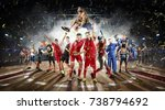players of different sports in... | Shutterstock . vector #738794692