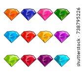 big set of jewels  gems and...