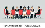 businessmen are meeting and... | Shutterstock .eps vector #738800626