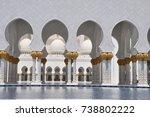 columns in sheik zayed grand... | Shutterstock . vector #738802222
