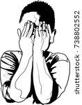 vector art drawing of little... | Shutterstock .eps vector #738802552