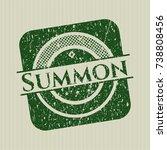 green summon distress rubber... | Shutterstock .eps vector #738808456