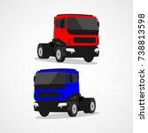 truck logo vector template... | Shutterstock .eps vector #738813598