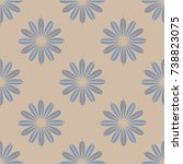 new color seamless pattern with ... | Shutterstock . vector #738823075