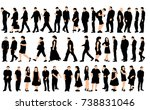 silhouette people  big... | Shutterstock . vector #738831046