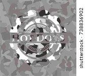 hot dogs written on a grey... | Shutterstock .eps vector #738836902