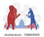 the usa elections result... | Shutterstock . vector #738845005