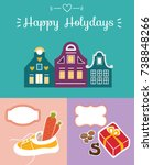 Set Of Cute Greeting Card For...