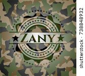 zany on camouflaged pattern | Shutterstock .eps vector #738848932