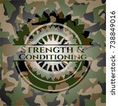 strength and conditioning on... | Shutterstock .eps vector #738849016