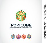 this is a cube logo used for... | Shutterstock .eps vector #738849706