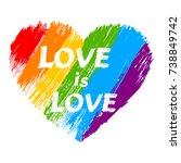 love is love   lgbt pride... | Shutterstock .eps vector #738849742