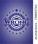 wrong badge with denim... | Shutterstock .eps vector #738850762