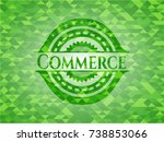 commerce green emblem with... | Shutterstock .eps vector #738853066
