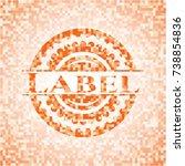 label abstract emblem  orange... | Shutterstock .eps vector #738854836