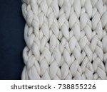 merino wool handmade knitted... | Shutterstock . vector #738855226