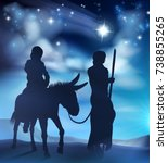 nativity christmas scene...   Shutterstock .eps vector #738855265