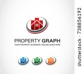 this is a property logo used... | Shutterstock .eps vector #738856192