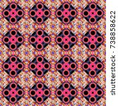 abstract vector geometric... | Shutterstock .eps vector #738858622