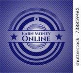earn money online emblem with... | Shutterstock .eps vector #738859462