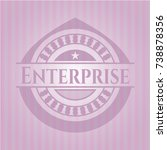 enterprise retro style pink... | Shutterstock .eps vector #738878356