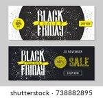 black friday sale advertising.... | Shutterstock .eps vector #738882895