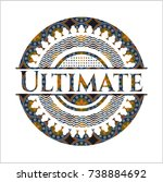 ultimate arabic style badge.... | Shutterstock .eps vector #738884692