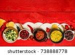 mexican food concept  tortilla... | Shutterstock . vector #738888778