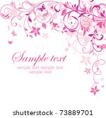 Pink Floral Retro Card