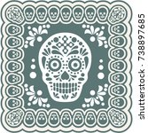 holy death  day of the dead ...   Shutterstock .eps vector #738897685